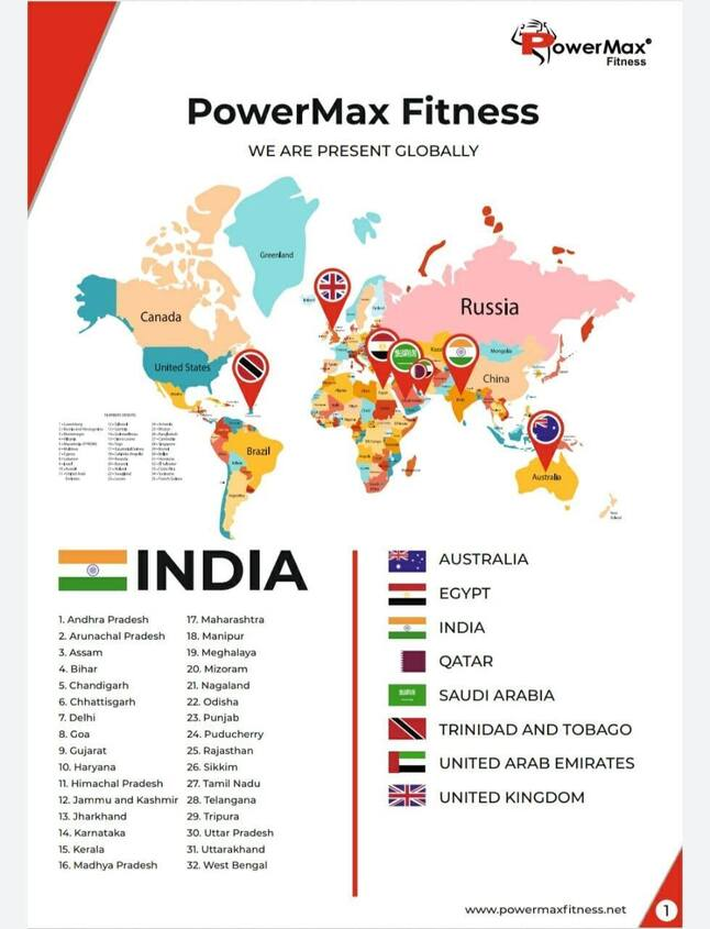 powermax fitness is present globally